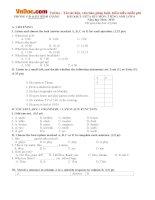 Đề thi giữa học kì 1 môn Tiếng Anh lớp 6 Phòng GD&ĐT Bình Giang có đáp án