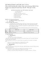 KẾ HOẠCH dạy CHỦ đề NGỮ văn 6