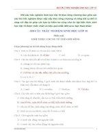 trắc nghiệm sinh học 10 có đáp án chi tiết