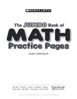 Scholastic prek skills big math