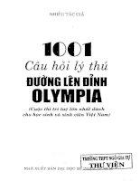 1001 Câu hỏi lý thú đường lên đỉnh olympia