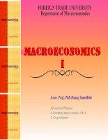 BÀI GIẢNG KINH TẾ VĨ MÔ (MACROECONOMICS I)