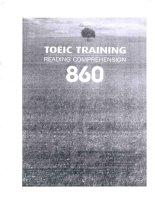 TOEIC 860 training reading comprehension