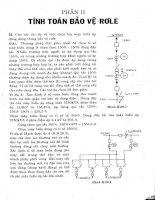 Các bài toán tính ngắn mạch và bảo vệ rờ le trong hệ thống điện  2