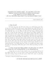 NGHIÊN cứu KHOA học   XU HƯỚNG tất yếu TRONG NÂNG CAO CHẤT LƯỢNG GIẢNG dạy các môn lý LUẬN CHÍNH TRỊ ở các TRƯỜNG đại học và CAO ĐẲNG HIỆN NAY