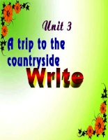 Unit 3  A trip to the countryside  write