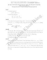 Đáp án đề thi tuyển sinh lớp 10 môn Toán 2010