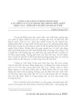 NÂNG CAO CHẤT LƯỢNG GIẢNG dạy các môn lý LUẬN CHÍNH TRỊ TRONG điều KIỆN HIỆN NAY   một số vấn đề cần QUAN tâm
