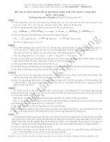 Đáp án đề thi tuyển sinh lớp 10 môn Hóa 2007