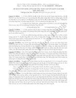 Đáp án đề thi tuyển sinh lớp 10 môn Hóa 2009