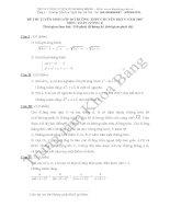 Đáp án đề thi tuyển sinh lớp 10 môn Toán 2007
