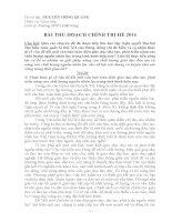 BÀI THU HOẠCH CHÍNH TRỊ HÈ 2016