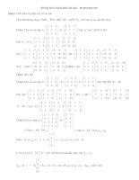 phương pháp giải và các dạng bài tập đại số tuyến tính chương 1