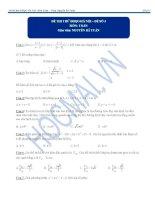Đề thi đánh giá năng lực môn toán số 3