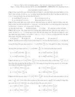 Bài tập sóng cơ vật lý 12