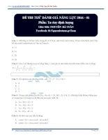 Bộ đề thi thử trắc nghiệm môn toán năm 2017