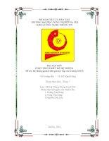 BÀI TẬP LỚN PHÂN TÍCH THIẾT KẾ HỆ THỐNG:  Hệ thống quản lí kết quả học tập của trường THCS