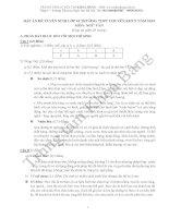 Đáp án đề thi tuyển sinh lớp 10 môn Văn năm 2012