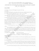 Đáp án đề thi tuyển sinh lớp 10 môn Tiếng Anh năm 2007