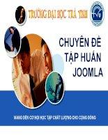 Chuyên đề Tập huấn Joomla 7