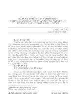 SỬ DỤNG sơ đồ tư DUY (MINDMAP) TRONG GIẢNG dạy học PHẦN NHỮNG NGUYÊN lý cơ bản của CHỦ NGHĨA mác – LÊNIN