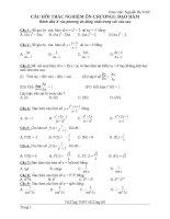 250 câu hỏi trắc nghiệm toán 12