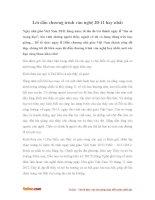 Lời dẫn chương trình văn nghệ 20-11 hay nhất