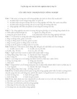 Tuyển tập các câu hỏi trắc nghiệm địa lý lớp 12