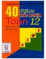 40 đề trắc nghiệm toán 12