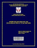 Nghiên cứu khả năng nhũ hóa của globulin trích ly từ hạt bụp giấm