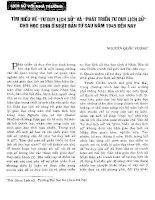 TÌM HIỂU VỀ TƯ DUY LỊCH SỬ VÀ PHÁT TRIỂN TƯ DUY LỊCH SỬ CHO HỌC SINH Ở NHẬT BẨN TỪ SAU 1945