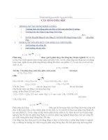 tài liệu full về cân bằng hoá học dành cho thi học sinh giỏi và ôn thi đại học cao đẳng