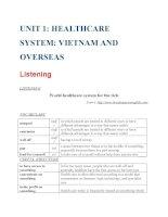 Tiếng Anh y tế  Unit 1