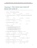 Trắc nghiệm toán 2017 chủ đề hàm số _Nguyễn Bảo Vương