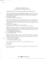 Đề thi và đáp án môn tin học văn phòng (ôn thi công chức nhà nước)