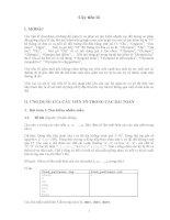 Cây tiền tố (Trie) và ứng dụng của cây tiền tố trong các bài toán