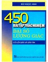 450 bài tập trắc nghiệm đại số  Lượng giác (có lời giải và đáp án): Phần 1
