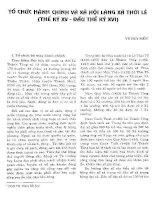 TỔ CHỨC HÀNH CHÍNH VÀ TỔ CHỨC LÀNG XÃ THỜI LÊ