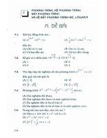 Tuyển chọn các bài toán trắc nghiệm khách quan Đại số và lượng giác: Phần 2