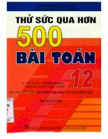 Thử sức qua hơn 500 bài toán 12 (tái bản lần thứ hai) phần 1