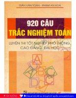 920 câu hỏi trắc nghiệm môn toán