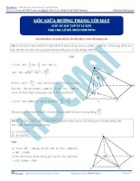 Bài tập tính góc giữa đường với mặt có đáp án thầy lê bá trần phương