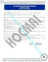 Bài tập sự tương giao của hàm số thầy lê anh tuấn