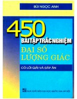 450 Bài tập trắc nghiệm đại số  lượng giác ĐHQG