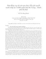 Hợp đồng vay tài sản qua thực tiễn giải quyết tranh chấp tại TAND quận hai bà trưng – thành phố hà nội