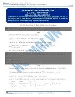 Bài tập sự tương giao của hàm phân thức có đáp án thầy lê bá trần phương