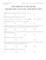 TỔNG hợp 500 câu hỏi THI THỬ đại học QUỐC GIA hà nội – PHẦN ĐỊNH LƯỢNG môn toán hay