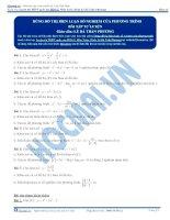 Bài tập dùng đồ thị biện luận số nghiệm thầy lê bá trần phương