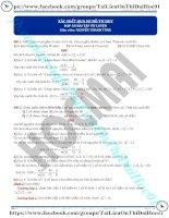 Bài tập tính xác suất qua sơ đồ tư duy có đáp án thầy nguyễn thanh tùng
