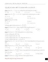 Trắc nghiệm sự đồng biến và nghịch biến của hàm số